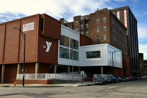 Central YMCA building in downtown Youngstown